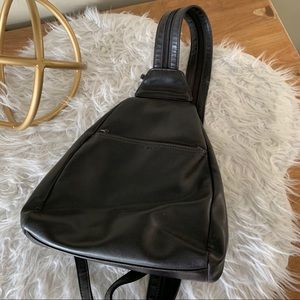 Nine West leather zipper strap backpack/sling